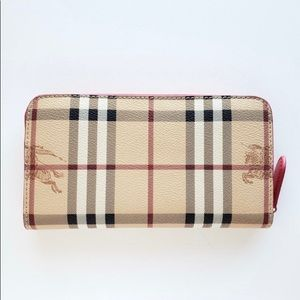 Burberry Vintage Check Two-Tone Wallet - Beige/Red